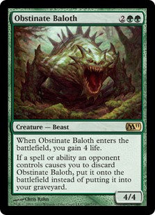 Obstinate Baloth (Signed / CoreSet 2011)