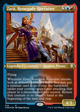 Zara, Renegade Recruiter (Etched Foil / Commander Legends)