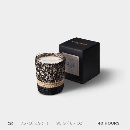 Bougie raphia Mogador noir - Fleur d'oranger