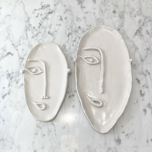 Présentoir pour bijoux céramique visage