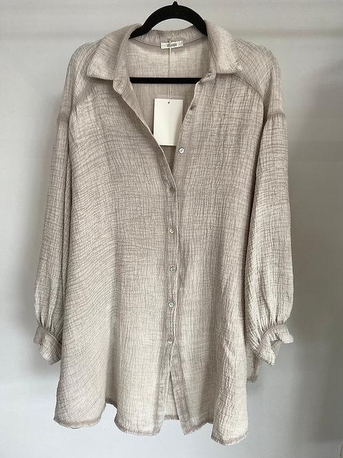 Robe chemise gaze de coton