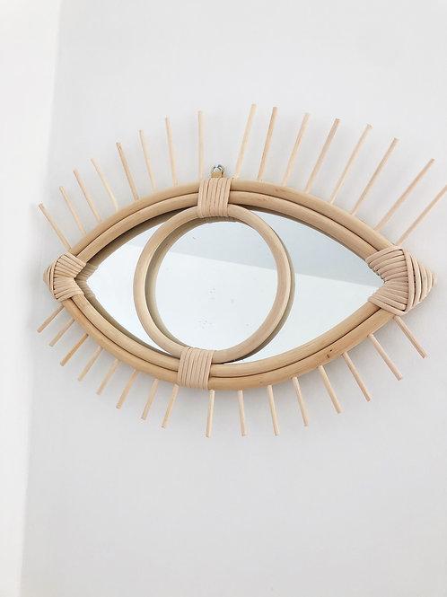 Miroir oeil - Pompon decoration