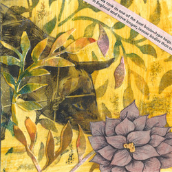 Yellow Collage, collage by Lauren Kinghorn
