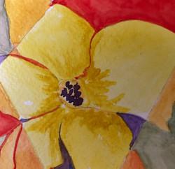Yellow Flower, watercolor by Nancy Present-Van Broekhoven