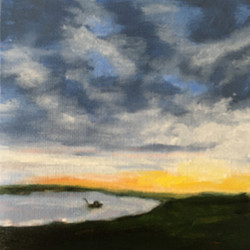 Dawn-Star Island, oil by Barbara Reynolds