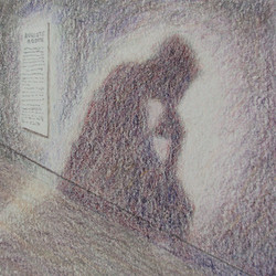 The Thinker, drawing by Keith McClelland