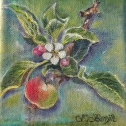 My Crabapple Tree, oil by Sandra Berejik
