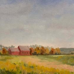 Fall at Adam's Farm, oil by Julie Cordonnier