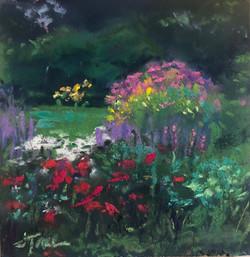 Tiny Garden, pastel by Jodi Traub