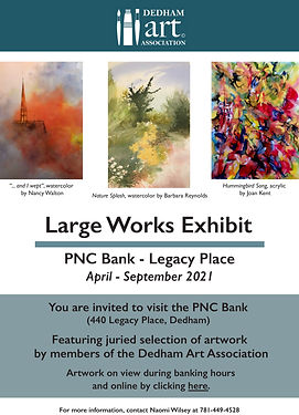 """<p class=""""font_8"""">You are invited to visit our juried exhibit at the Dedham branch located at Legacy Place, Dedham, MA during banking hours. Click here to view the exhibit on Youtube.&nbsp;&nbsp;</p> <p class=""""font_8""""><br></p> <p class=""""font_8""""><a href=""""https://www.youtube.com/watch?v=wyH5j461K9A""""><u>https://www.youtube.com/watch?v=wyH5j461K9A</u></a></p>"""