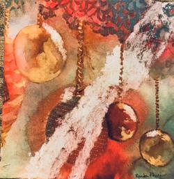 Christmas Light, watercolor by Randa Khuri