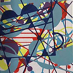 Crazy Light, silkscreen by Gail Hansen