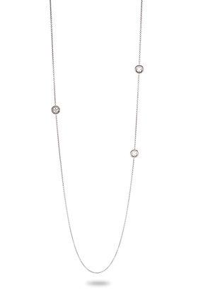 Collana Sutoir Rosone Quadrilobato con Zircone Silver Shine