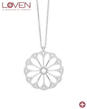 "Rosone Bovolo ""silver shine long chain"""