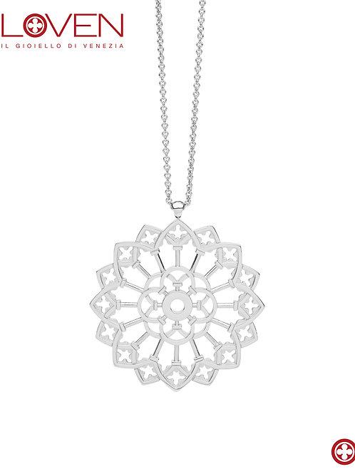 "Rosone Ducale ""silver shine medium chain"""