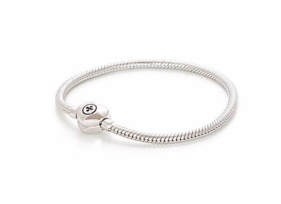 Bracciale Snake a Cuore silver shine