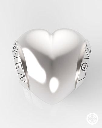 Charm Cuore Liscio silver shine