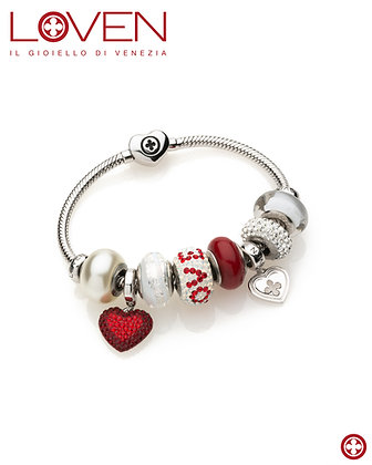 """Bracciale Snake Cuore """"Love Charms"""""""