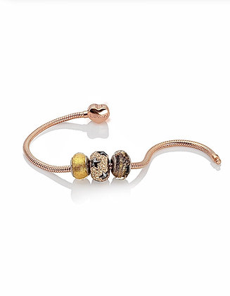 "Bracciale Snake a Cuore rosé gold ""example"""