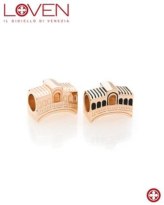 Charm puente de Rialto oro rosado
