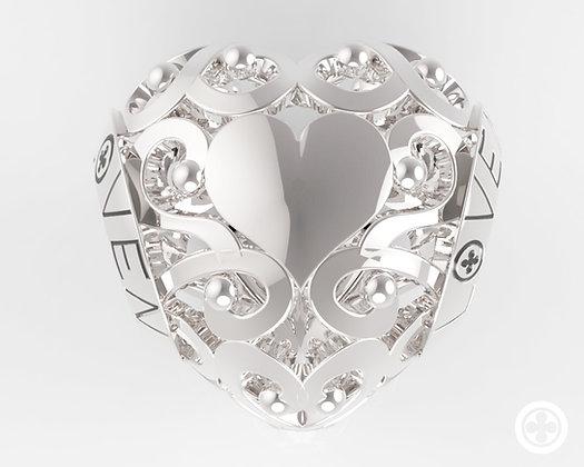 Charm Cuore a Ghirigoro silver shine