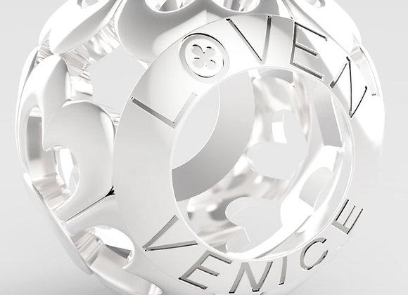 Charm Barilotto a Fiori silver shine