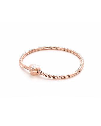 Bracciale Snake a Cuore rosé gold