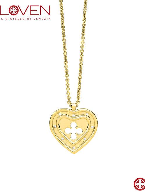 """Cuore Pendente Grande """"gold long chain"""""""