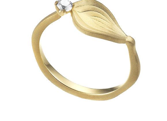 """Anello Foglia Orchidea """"Bellezza"""" Gold"""