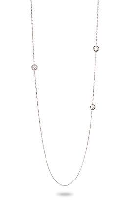 Collar Sutoir Trébol de cuatro hojas Rosetón Silver Shine