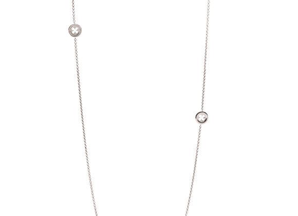 Collana Sutoir Rosone Quadrilobato a Quadrifoglio Silver Shine