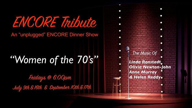 ENCORE TRIBUTE Womnen of 70s ArtsPeople.