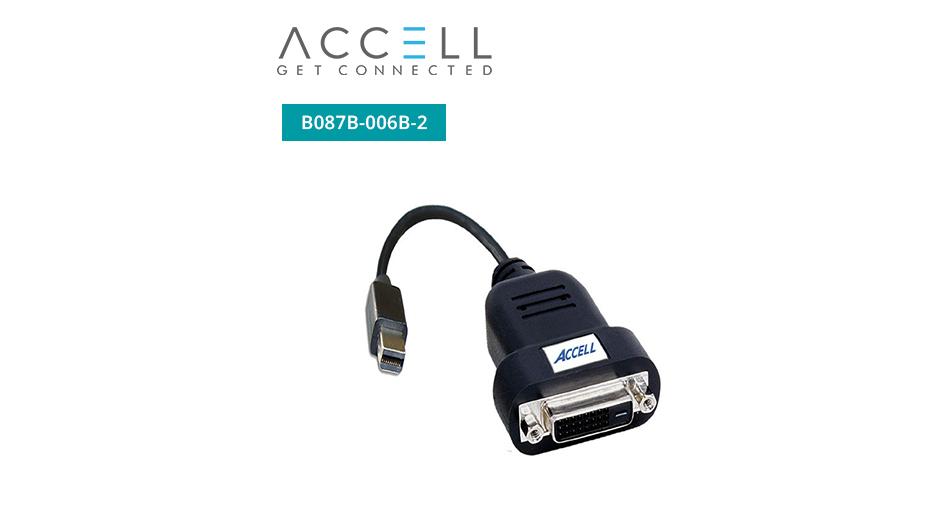 UltraAV® Mini DisplayPort to DVI-D Active Single-Link Adaptor