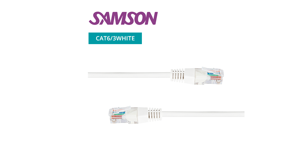 CAT6 RJ45 Patch Lead - White - 3m
