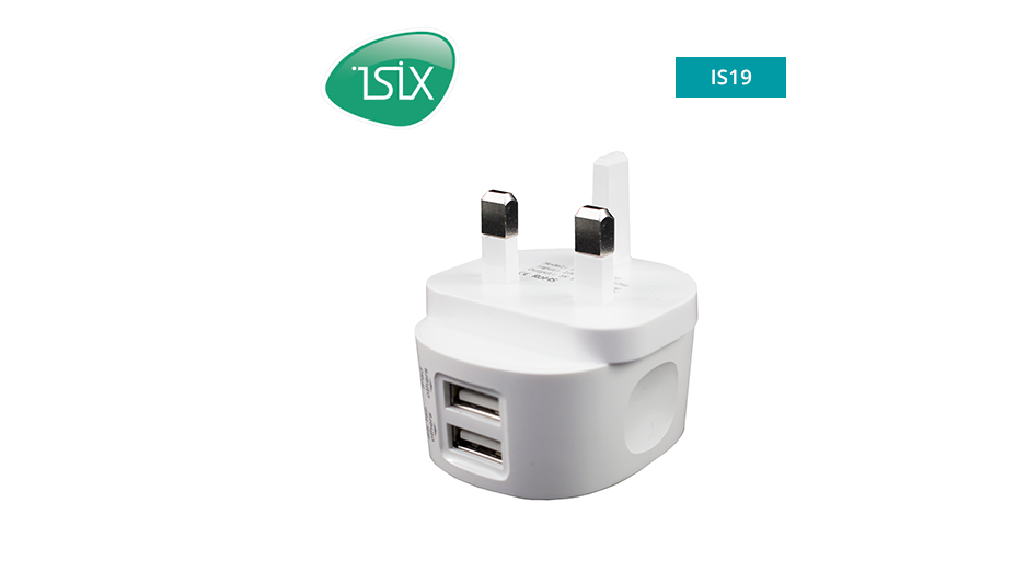 iSix - AC USB charger 2.4A with 2 outputs