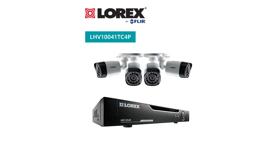 Lorex by Flir 4 Channel Series Security DVR system with 720p HD Cameras