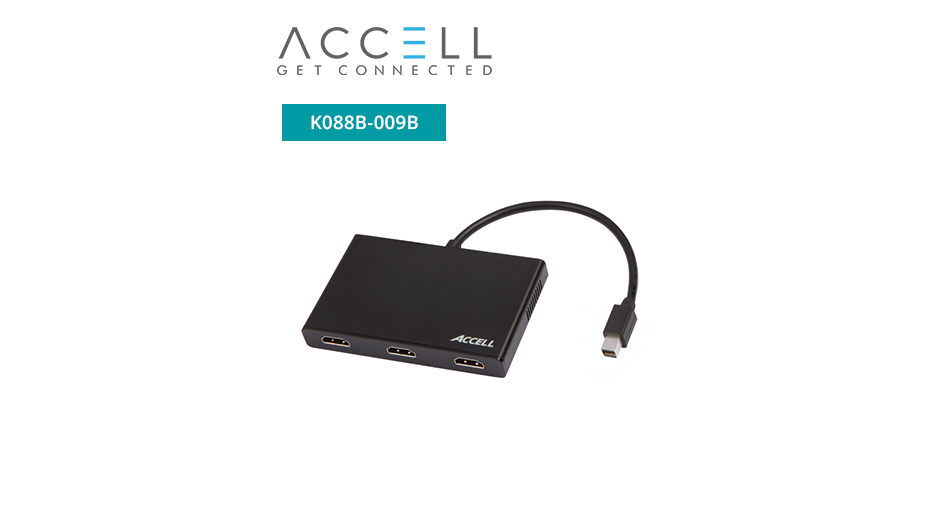 UltraAV® Mini DisplayPort 1.2 to 3 HDMI Multi-Display MST Hub