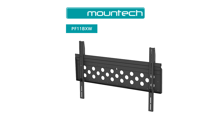 "Flush Wall Mount ‐ 52"" ‐ 98"" (Black)"