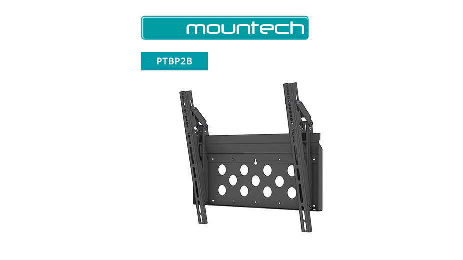 "Flush and Tilt Wall Mount ‐ 52"" ‐ 95"" (Black)"