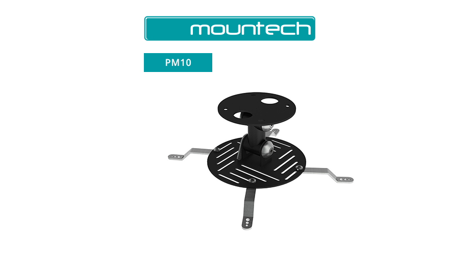 Universal projector close coupled lightweight ceiling mount 300x300 (Max 15kg)