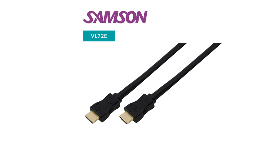 V1.4 Gold Plated HDMI Cable ‐ High Speed with Ethernet - 0.5m