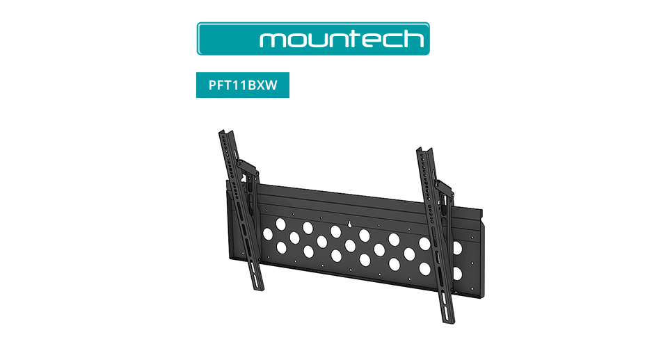 "Flush and Tilt Wall Mount ‐ 52"" ‐ 98"" (Black)"