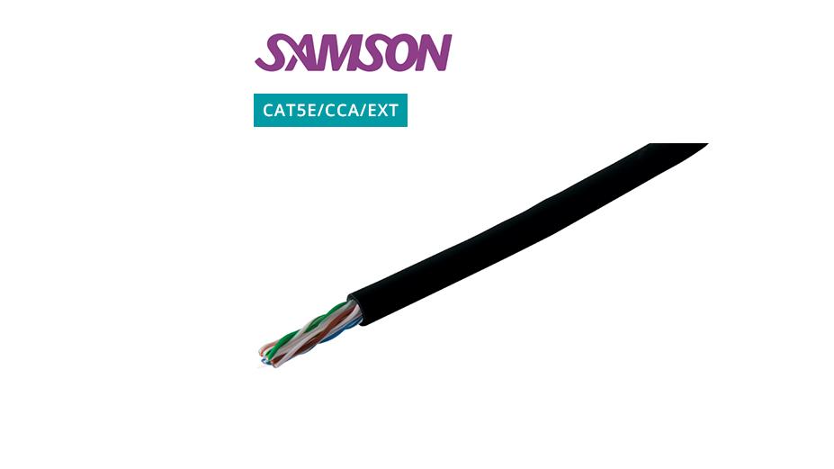 External CAT5E UTP Cable ‐ CCA ‐ Black ‐ 305m