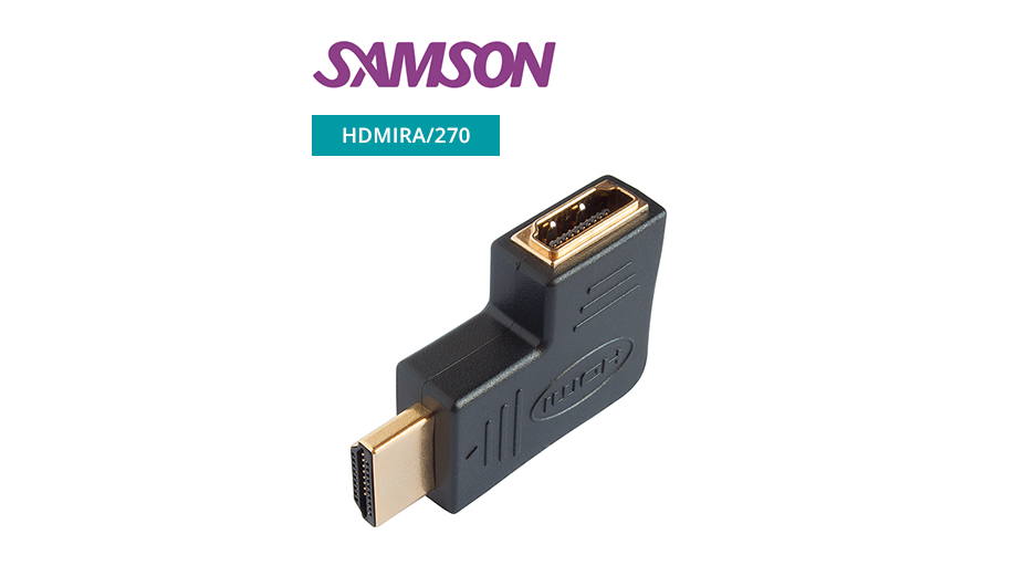 HDMI plug / socket adaptor (gold) - 270 Degrees