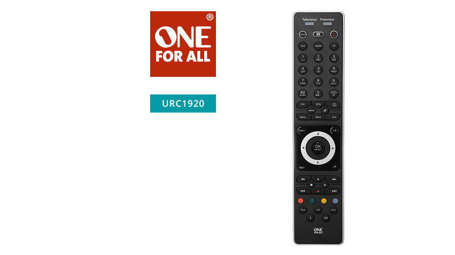 One‐For-All Replacement Freeview and Freesat Remote
