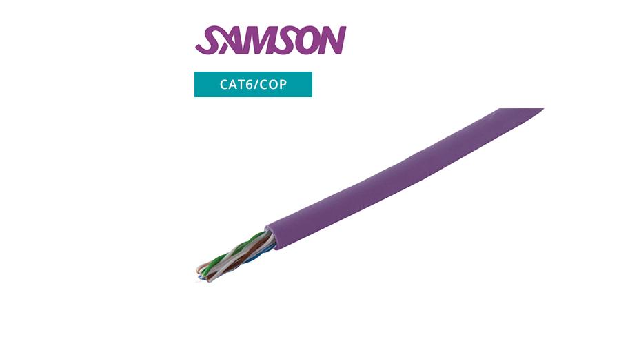 LSOH CAT6 UTP Cable ‐ Copper ‐ Purple ‐ 305m