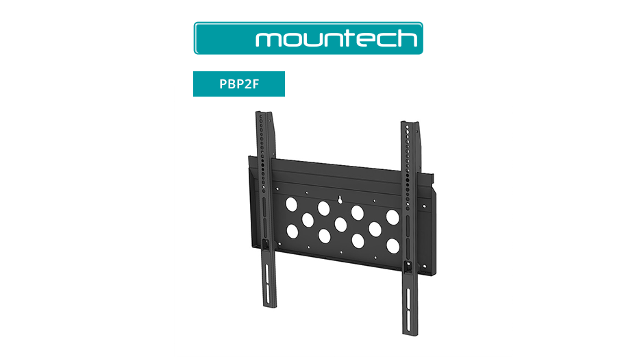 "Flush Wall Mount ‐ 52"" ‐ 95"" (Black)"