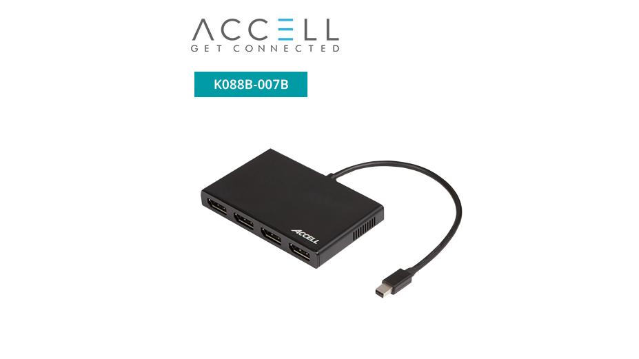 UltraAV® Mini DisplayPort 1.2 to 4 DisplayPort Multi-Display MST Hub