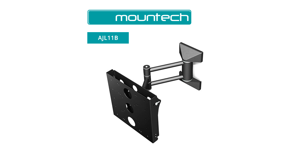 Single arm tilt & swivel wall mount for mid size screens 26 ‐ 39""