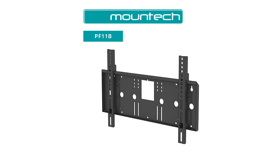 "Flush Flat Arm Wall Mount ‐ 37"" ‐ 65"" (Black)"